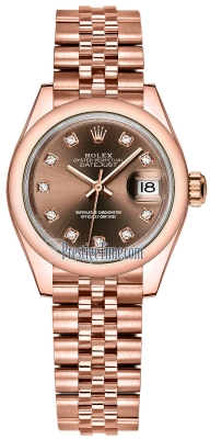 Rolex Lady Datejust 28mm Everose Gold 279165 Chocolate Diamond Jubilee