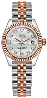 Rolex Lady Datejust 28mm Stainless Steel and Everose Gold 279171 MOP Diamond Jubilee
