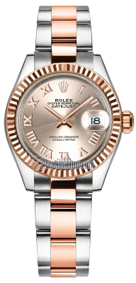 Rolex Lady Datejust 28mm Stainless Steel and Everose Gold 279171 Sundust Roman Oyster