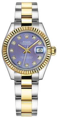 Rolex Lady Datejust 28mm Stainless Steel and Yellow Gold 279173 Lavender Diamond Oyster