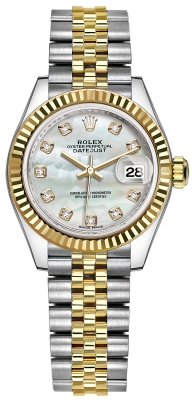 Rolex Lady Datejust 28mm Stainless Steel and Yellow Gold 279173 MOP Diamond Jubilee