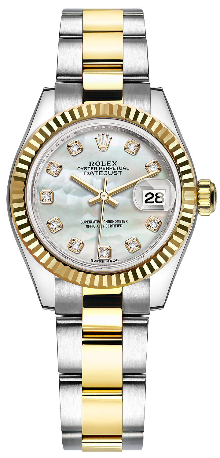 8471e593bbf2b 279173 MOP Diamond Oyster Rolex Lady Datejust 28mm Stainless Steel ...