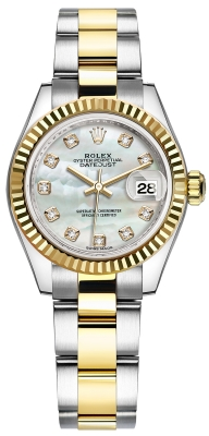 Rolex Lady Datejust 28mm Stainless Steel and Yellow Gold 279173 MOP Diamond Oyster