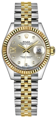 Rolex Lady Datejust 28mm Stainless Steel and Yellow Gold 279173 Silver 17 Diamond Jubilee