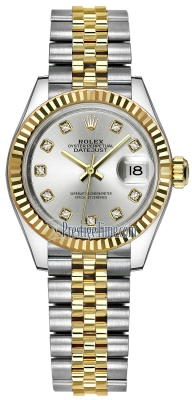 Rolex Lady Datejust 28mm Stainless Steel and Yellow Gold 279173 Silver Diamond Jubilee