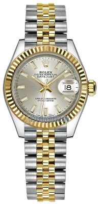 Rolex Lady Datejust 28mm Stainless Steel and Yellow Gold 279173 Silver Index Jubilee