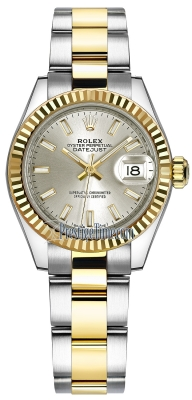 Rolex Lady Datejust 28mm Stainless Steel and Yellow Gold 279173 Silver Index Oyster
