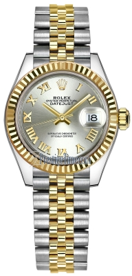 Rolex Lady Datejust 28mm Stainless Steel and Yellow Gold 279173 Silver Roman Jubilee