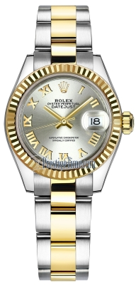 Rolex Lady Datejust 28mm Stainless Steel and Yellow Gold 279173 Silver Roman Oyster