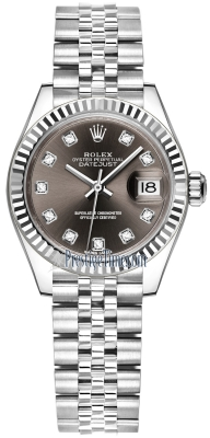 Rolex Lady Datejust 28mm Stainless Steel 279174 Dark Grey Diamond Jubilee