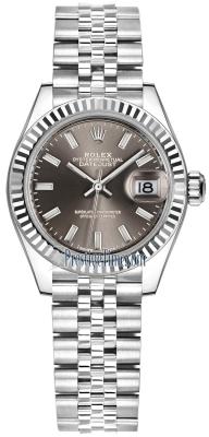 Rolex Lady Datejust 28mm Stainless Steel 279174 Dark Grey Index Jubilee