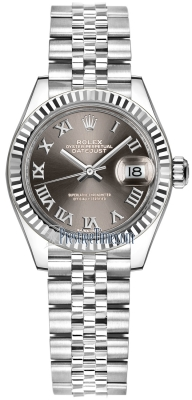 Rolex Lady Datejust 28mm Stainless Steel 279174 Dark Grey Roman Jubilee