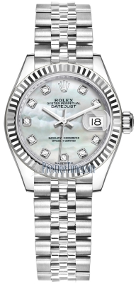 Rolex Lady Datejust 28mm Stainless Steel 279174 MOP Diamond Jubilee