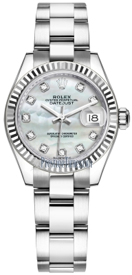 Rolex Lady Datejust 28mm Stainless Steel 279174 MOP Diamond Oyster