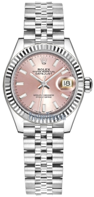 Rolex Lady Datejust 28mm Stainless Steel 279174 Pink Index Jubilee
