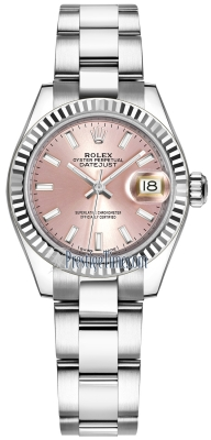 Rolex Lady Datejust 28mm Stainless Steel 279174 Pink Index Oyster