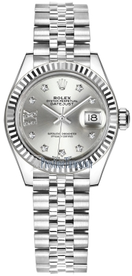Rolex Lady Datejust 28mm Stainless Steel 279174 Silver 17 Diamond Jubilee