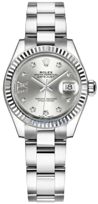 Rolex Lady Datejust 28mm Stainless Steel 279174 Silver 17 Diamond Oyster
