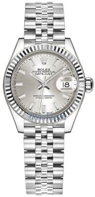 Rolex Lady Datejust 28mm Stainless Steel 279174 Silver Index Jubilee