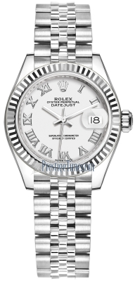 Rolex Lady Datejust 28mm Stainless Steel 279174 White Roman Jubilee