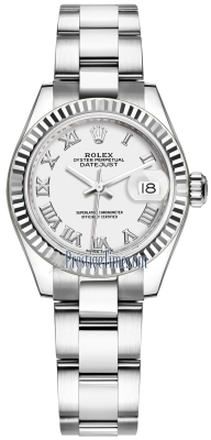Rolex Lady Datejust 28mm Stainless Steel 279174 White Roman Oyster