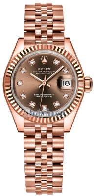 Rolex Lady Datejust 28mm Everose Gold 279175 Chocolate Diamond Jubilee
