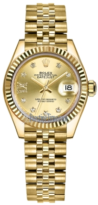 Rolex Lady Datejust 28mm Yellow Gold 279178 Champagne 17 Diamond Jubilee