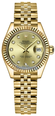 Rolex Lady Datejust 28mm Yellow Gold 279178 Champagne Diamond Jubilee