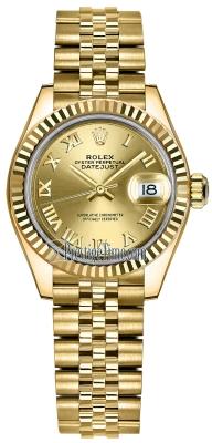 Rolex Lady Datejust 28mm Yellow Gold 279178 Champagne Roman Jubilee