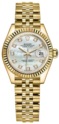 Rolex Lady Datejust 28mm Yellow Gold 279178 MOP Diamond Jubilee