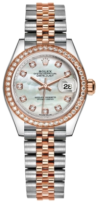 Rolex Lady Datejust 28mm Stainless Steel and Everose Gold 279381RBR MOP Diamond Jubilee