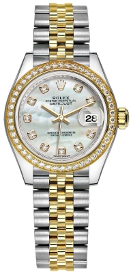 Rolex Lady Datejust 28mm Stainless Steel and Yellow Gold 279383RBR MOP Diamond Jubilee