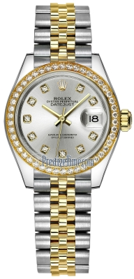 Rolex Lady Datejust 28mm Stainless Steel and Yellow Gold 279383RBR Silver Diamond Jubilee
