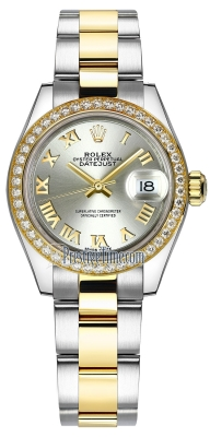 Rolex Lady Datejust 28mm Stainless Steel and Yellow Gold 279383RBR Silver Roman Oyster