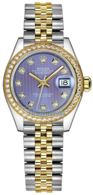 Rolex Lady Datejust 28mm Stainless Steel and Yellow Gold 279383RBR Lavender Diamond Jubilee
