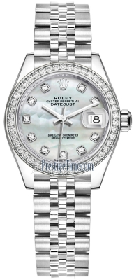 Rolex Lady Datejust 28mm Stainless Steel 279384RBR MOP Diamond Jubilee