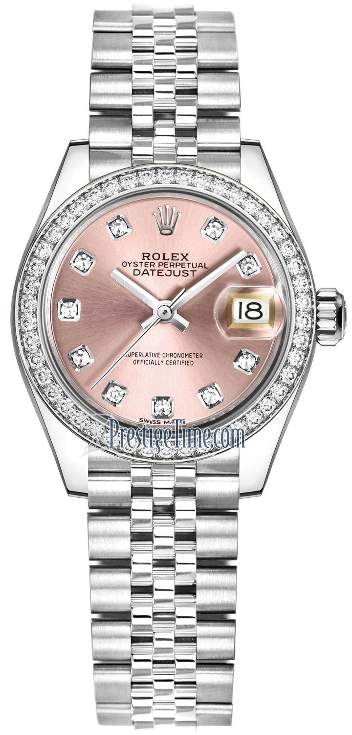 Rolex Lady Datejust 28mm Stainless Steel 279384RBR Pink Diamond Jubilee
