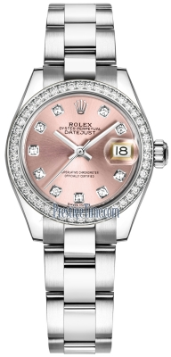 Rolex Lady Datejust 28mm Stainless Steel 279384RBR Pink Diamond Oyster
