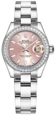 Rolex Lady Datejust 28mm Stainless Steel 279384RBR Pink Index Oyster
