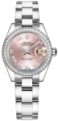 Rolex Lady Datejust 28mm Stainless Steel 279384RBR Pink Roman Oyster