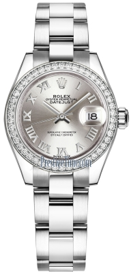 Rolex Lady Datejust 28mm Stainless Steel 279384RBR Silver Roman Oyster
