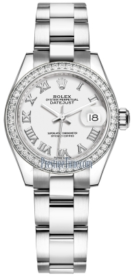 Rolex Lady Datejust 28mm Stainless Steel 279384RBR White Roman Oyster
