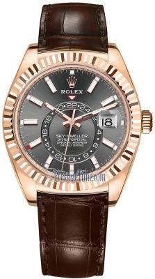 Rolex Sky Dweller 42mm 326135 Rhodium Index