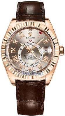Rolex Sky Dweller 42mm 326135 Sundust Roman