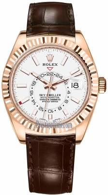 Rolex Sky Dweller 42mm 326135 White Index