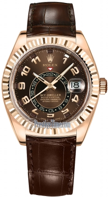 Rolex Sky Dweller 42mm 326135 Chocolate Arabic
