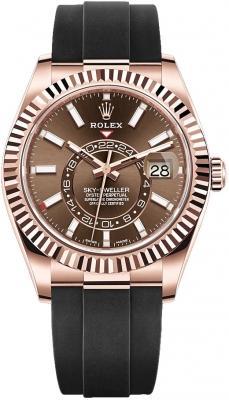 Rolex Sky Dweller 42mm 326235 Chocolate Index