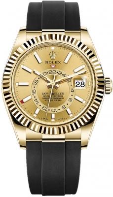 Rolex Sky Dweller 42mm 326238 Champagne Index