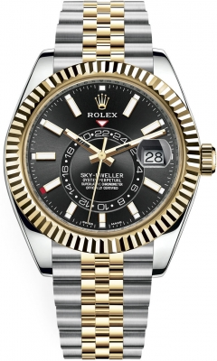 Rolex Sky Dweller 42mm 326933 Black Index Jubilee