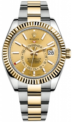 Rolex Sky Dweller 42mm 326933 Champagne Index